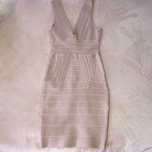 Champagne Bandage Dress size S